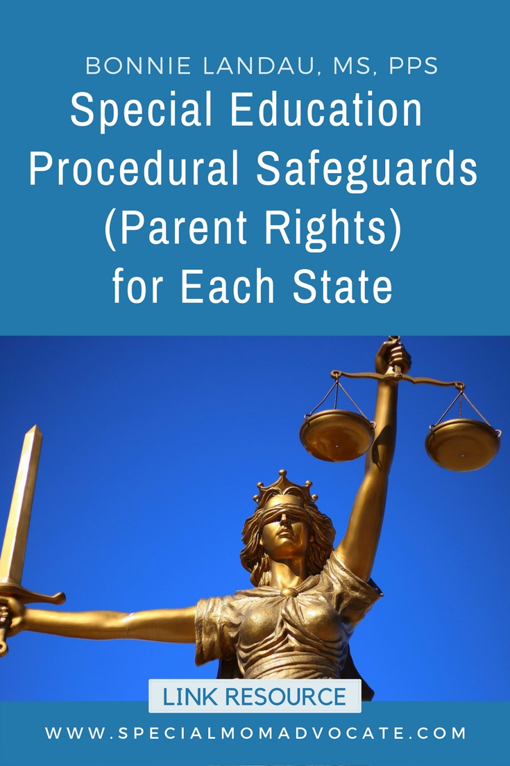 Procedural Safeguards Series Part Iv >> Special Ed Procedural Safeguards Parent Rights For Each State