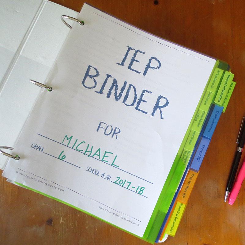 The Ultimate IEP Binder Toolkit Printable