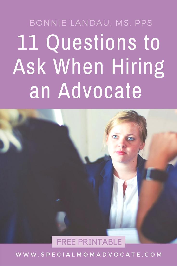 The Role Of Special Education Advocate >> 11 Questions When Hiring A Special Education Advocate Bonnie Landau