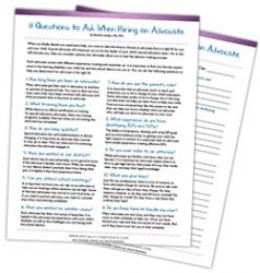 Free Printable - 11 Questions to Ask When Hiring a Special Education Advocate