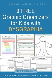 9 Free Graphic Organizers for Kids with Dysgraphia