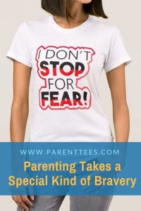 I don't stop for fear woman's t-shirt