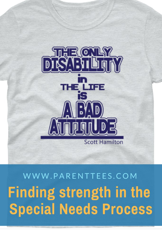 The only disability is a bad attitude t-shirt