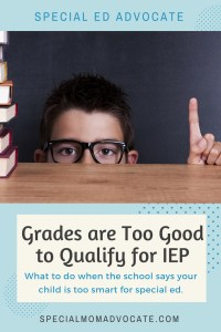Child Denied an IEP Because Grades Are Good