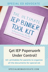 Ultimate IEP Binder for Parents, IEP Organizer