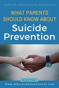 What parents should know about suicide prevention