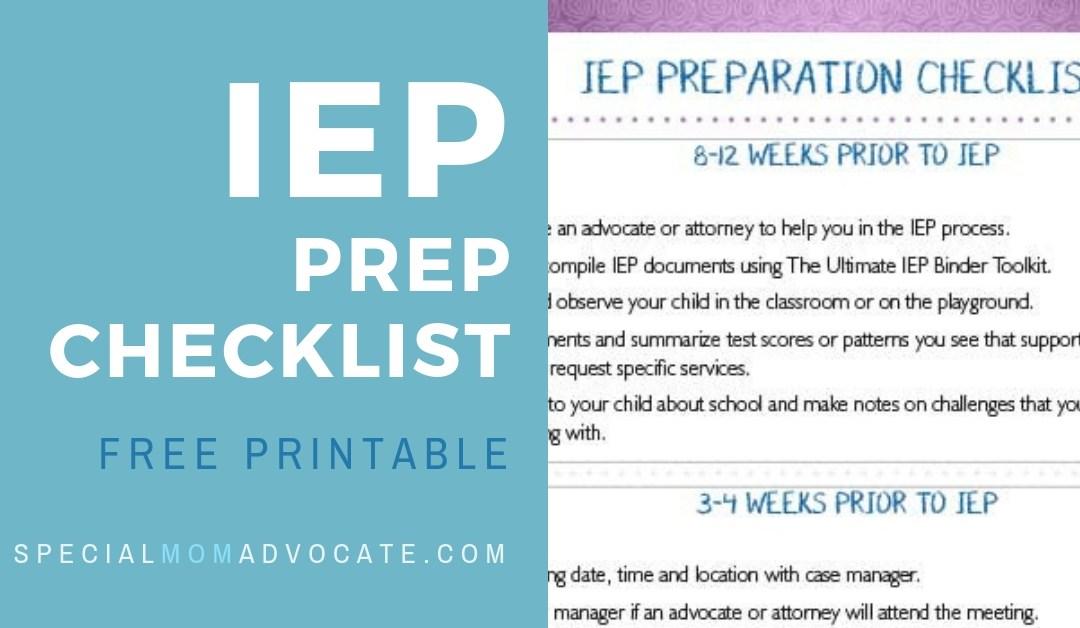 Free Printable: IEP Prep Checklist