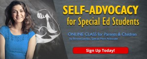Self-advocacy for Special Ed Students