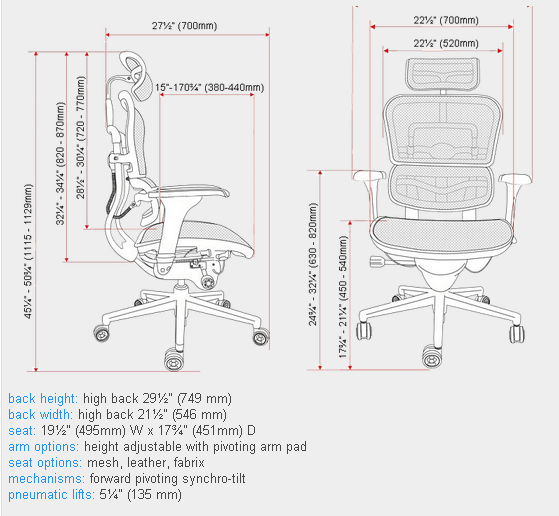 diagram of pneumatic office chair stewart warner amp gauge wiring ergohuman me7erg high back with headrest and mesh mpn dimensions
