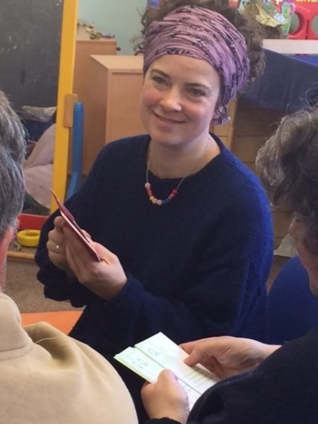 Parents use the Fink Cards at a Down's syndrome support group