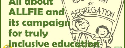 All about ALLFIE and its campaign for truly inclusive education