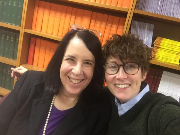 Dr Clair Francomano with Lara Bloom of The Ehlers Danlos Society