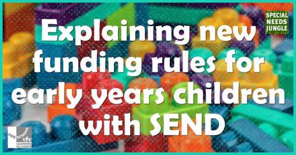 explaining funding preschool SEND