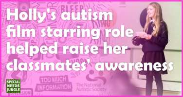 Holly's autism film starring role helped raise her classmates' awareness