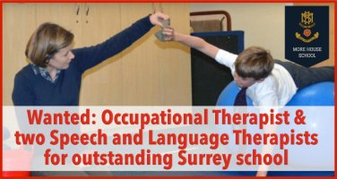 Wanted: Occupational Therapist AND two Speech and Language Therapists for outstanding Surrey school
