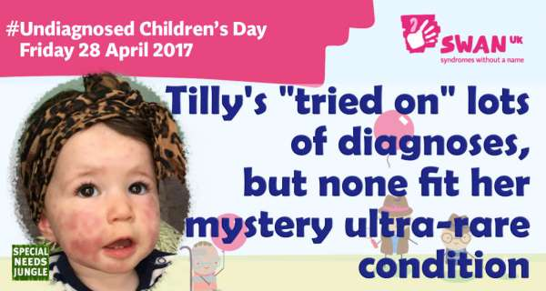"""Tilly's """"tried on"""" lots of diagnoses, but none fit her mystery ultra-rare condition"""