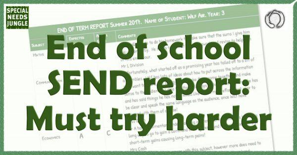 school report must try harder
