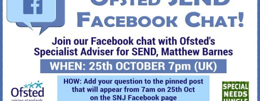 Ofsted SEND Facebook chat to be hosted by Special Needs Jungle!