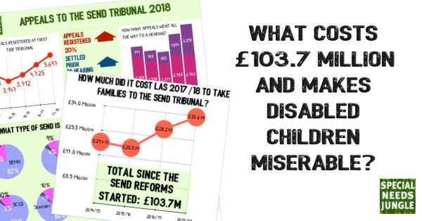What costs 103.7million makes disabled children miserable