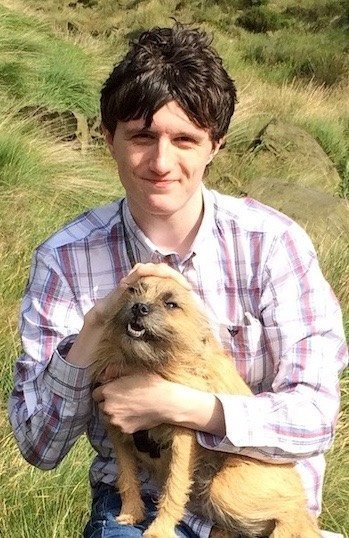 Philip Milburn and furry friend