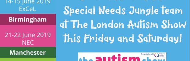 Come and meet the Special Needs Jungle team at The Autism Show this Friday and Saturday!