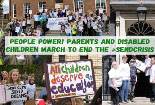 People power! Parents and disabled children march to end the #SENDcrisis