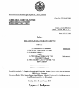 front page of judgement