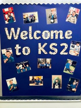 KS2 Welcome Sign at Phoenix House