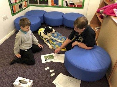 Reading dog literacy intervention at Phoenix House