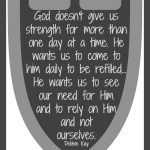 God's Strength For The Day