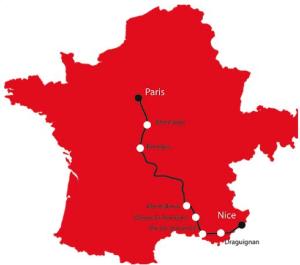 Course Paris2Nice 700 km à parcourir en 6 jours !