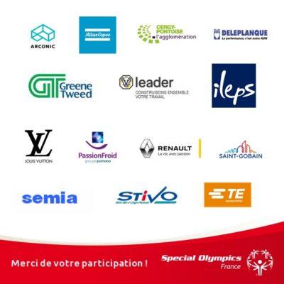 Pavés logos entreprises participantes Cergy 2019