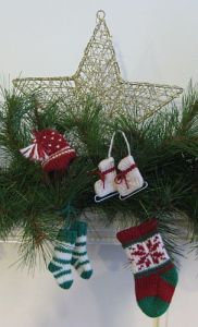 Four different ornaments in a package