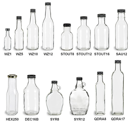 glass bottles wholesale containers
