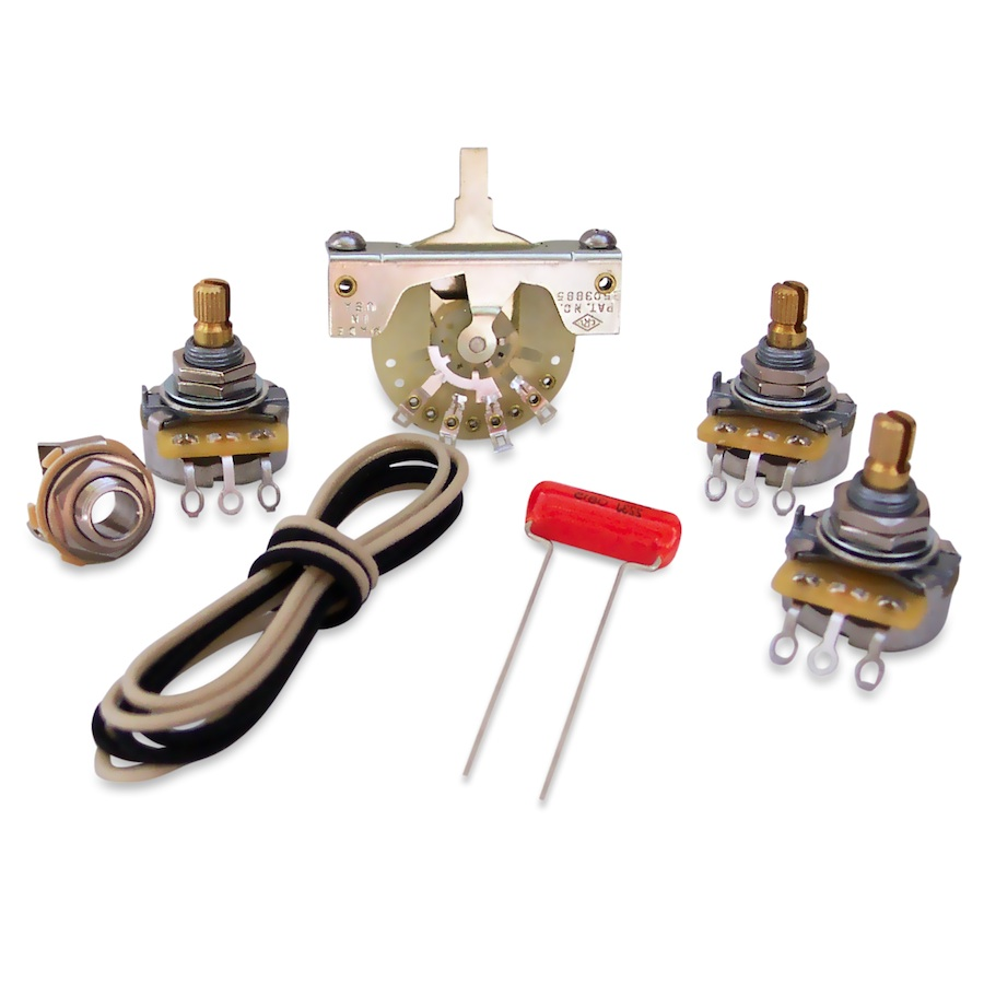medium resolution of electronics upgrade kits for strat free shipping over 75 guitar wiring upgrade kits stratocasterr deluxe vintagestyle wiring