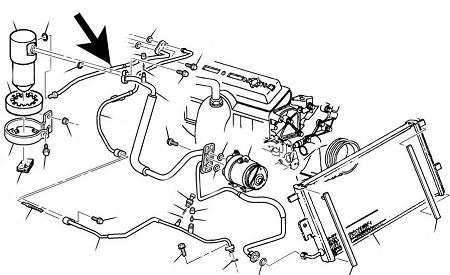 Air Conditioning,Accumulator Hose,C5 Corvette,1997-04,5.7,*NOS