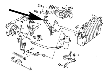 Air Conditioning Compressor Hose,C4 Corvette,1984,5.7L