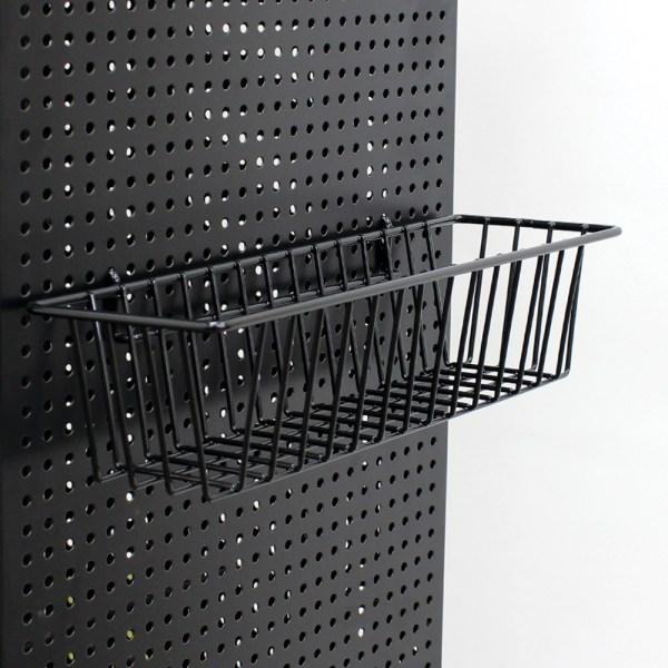 Black Pegboard Basket - 12 1 2 In. L X 3 4