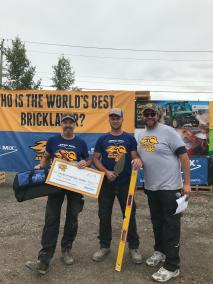 2019 SPEC MIX BRICKLAYER 500 Alberta Regional 2nd Place ant Top Craftsman, Mason Dave Sontag and Tender Sunny Harvey