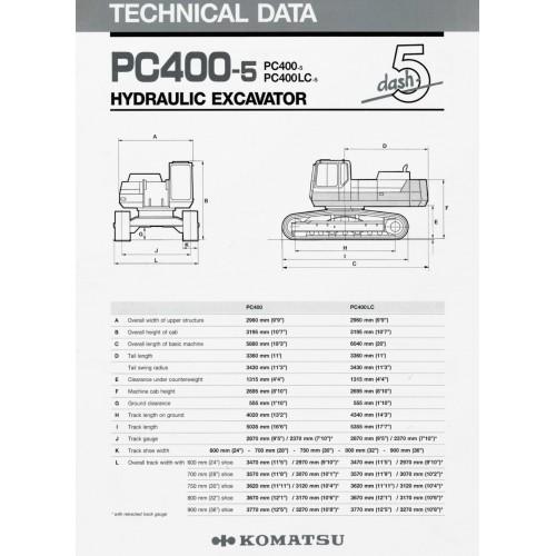 Komatsu PC400 LC-5 Hydraulic Excavators