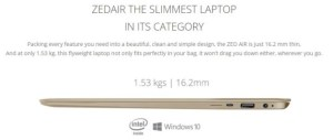ZED Air Slimmest Laptop in Nigeria