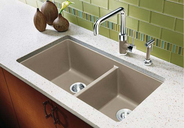 brown kitchen sink free standing cabinets 441129 in caf eback by blanco ottawa on precis 1 3 4 bowl cafe