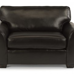 Black Leather Chair And A Half Recliner Covers Adelaide 3305101 In By Flexsteel Waldoboro Me Vail