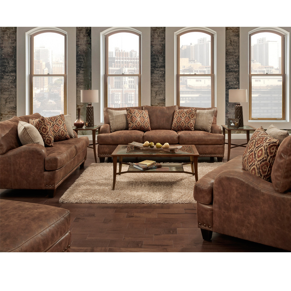 Faux Leather Sofa And Loveseat Chocolate Faux Leather Contour Reclining Sofa Loveseat Set TheSofa