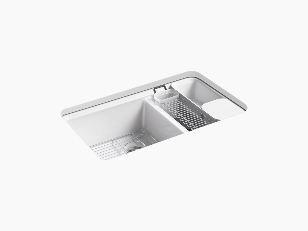 oversized kitchen sinks outdoor photos k86695ua30 in white by kohler calgary ab 33 x 22 9 5 8 under mount