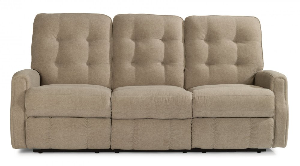 reclining sofa with nailhead trim durablend leather repair 388262m in by flexsteel casper wy devon power without