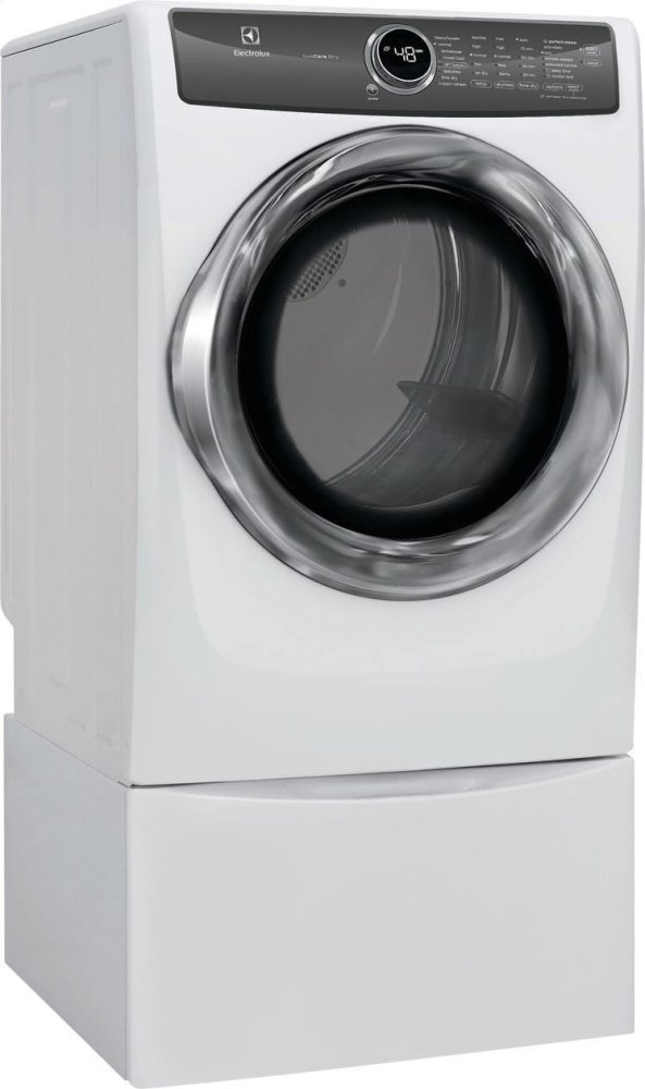 hight resolution of additional front load perfect steam electric dryer with luxcare dry and instant refresh 8 0