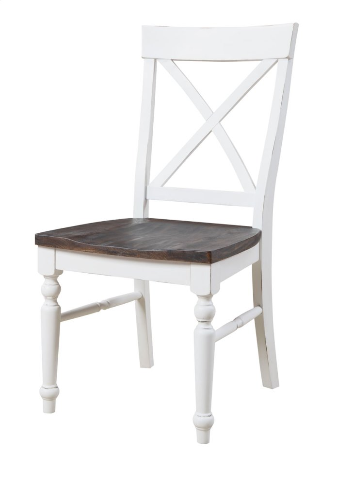 white x back chair oxo tot seedling high cushion d60120su in by emerald home furnishings ephrata wa dining antique w dk brown wood seat set up