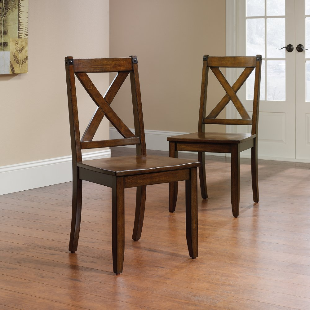 x back chairs target wooden 419025 in by sauder niles oh chair set of 2