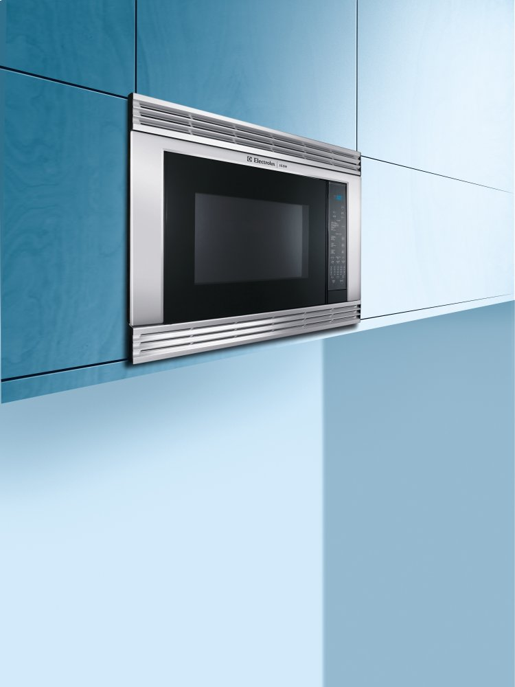 hight resolution of hidden additional electrolux icon built in microwave with side swing door